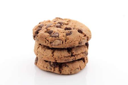 Cookies auf weißem Hintergrund Standard-Bild - 42781053