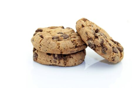 exempted: Cookies on a white background