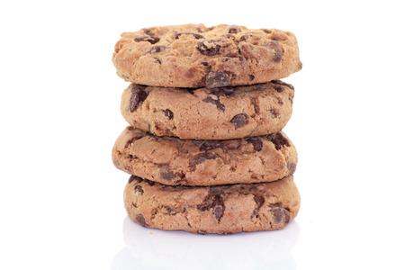 Cookies auf weißem Hintergrund Standard-Bild - 42929713