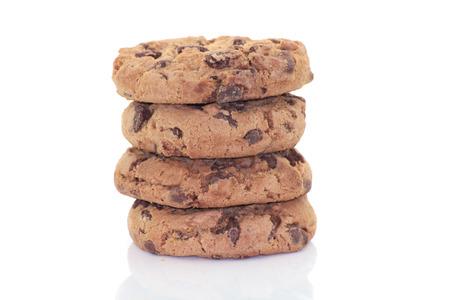 Cookies auf weißem Hintergrund Standard-Bild - 42929717