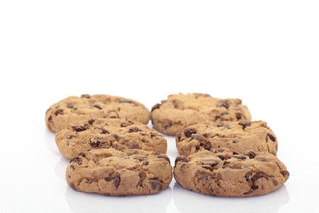 Cookies auf weißem Hintergrund Standard-Bild - 36626479