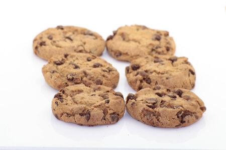 Cookies auf weißem Hintergrund Standard-Bild - 36626482