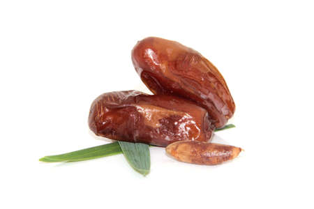 dates fruit: dates on white background