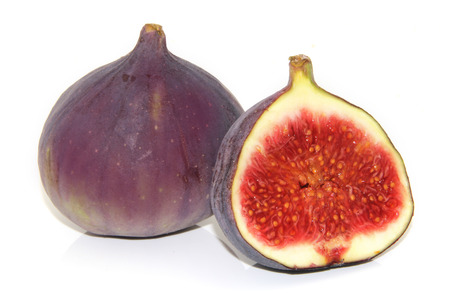 Figs on white background Banco de Imagens