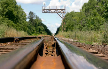 Railroad toronto, Canada. Growth; Development; Following; Forecasting; Journey;