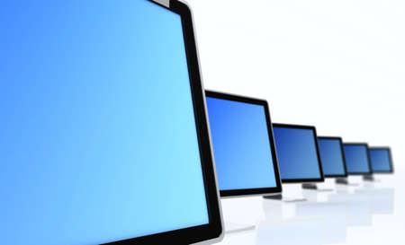 Large image of a stylized monitor Stock Photo - 1704133