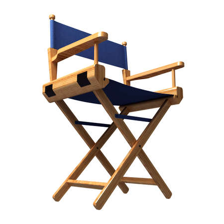 Director's chair isolated on white Stock Photo - 1727496