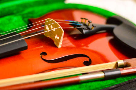 Close up shot of a violin,on white background . blur photo