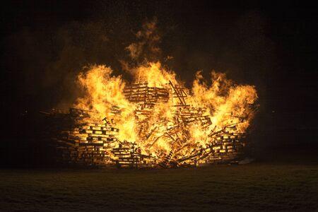 siloette: Bonfire glow Stock Photo