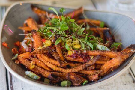 sweert potato fries in a bowl