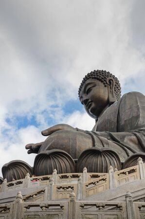 lantau: A famous buddha located in Lantau Island, Hong Kong