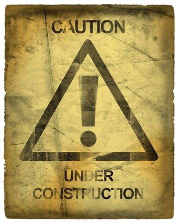 Caution Sign Under Construction photo