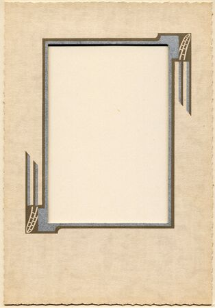 dungy: Antique card picture frame with blank photograph.