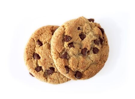 cooky: Chocolate chip cookies, taken in natural light. Path included in file.