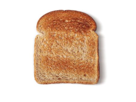 healthy path: Whole Wheat bread, toasted no butter.Path included. Stock Photo