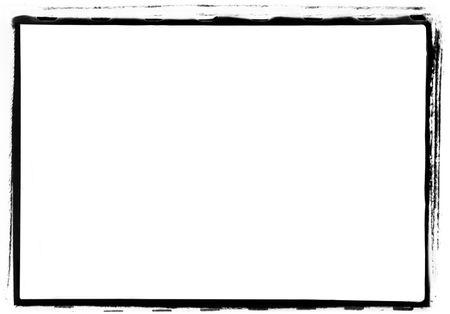 marco blanco y negro: Grunge foto borde.