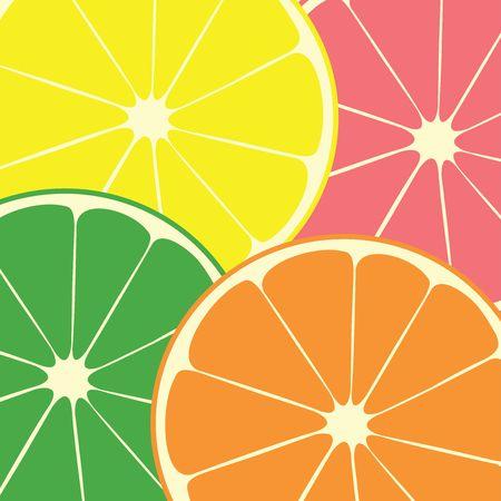 lima limon: C�tricos: naranja, lim�n, lima, pomelo rosa  Foto de archivo