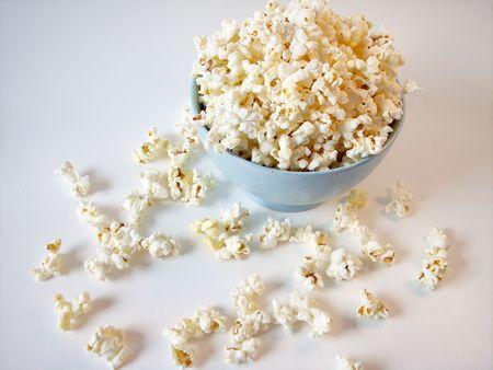 Popcorn in Blue bowl photo