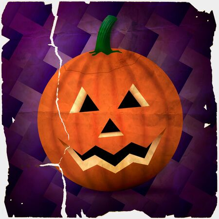 hallows: Illustration of a carved pumpkin.