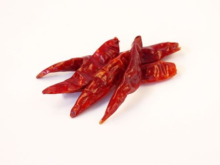 Dried Red Hot Chili Peppers.