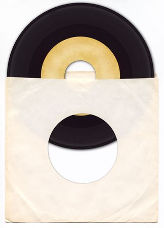 45rpm Vinyl Record met Sleeve. Stockfoto