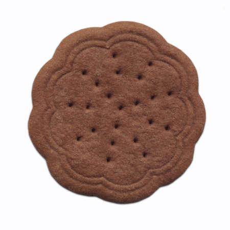 Chocolate Cookie over white Standard-Bild