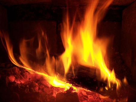 Fire place. Stock Photo - 250062