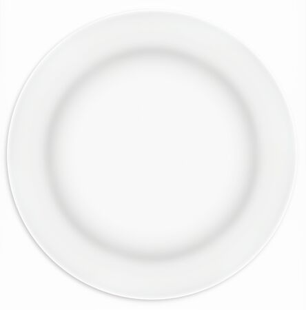 White sandwich plate, taken from overhead.