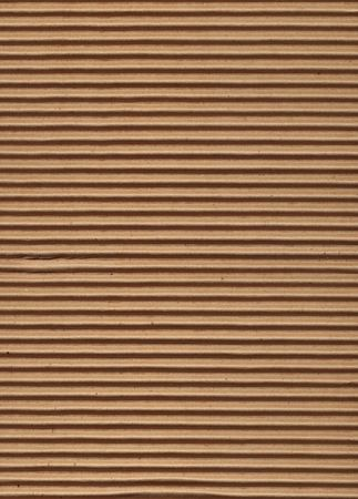 Close up of corrugated cardboard.