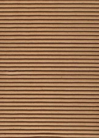Close up of corrugated cardboard.
