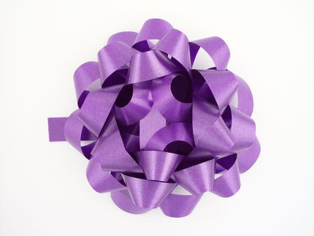Purple gift bow 写真素材