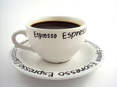 mingle: Cup of espresso. Stock Photo