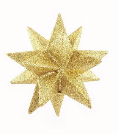 Glittery gold star. Stockfoto