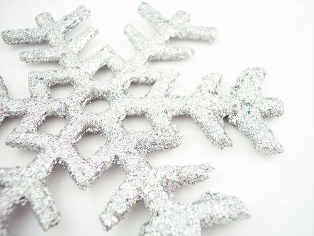 Glittery sneeuwvlok Stockfoto - 274244