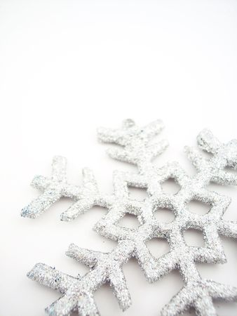 Glittery snowflake photo