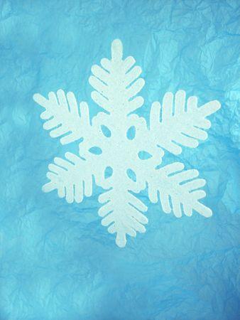 Snowflakes on blue. Stock Photo