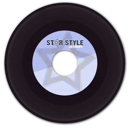 45 rpm Vinyl Record with fake label (fake company name, fake logo - created by me).