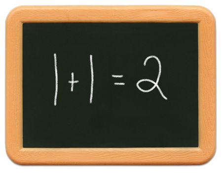 Child's mini plastic chalkboard - Math