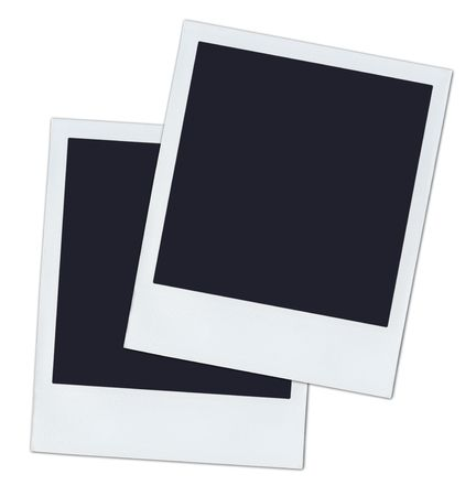 2 polaroids. Stockfoto