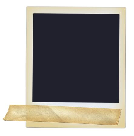 Polariod with masking tape. Standard-Bild