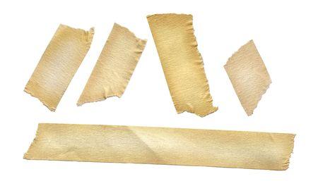 Masking tape on white.