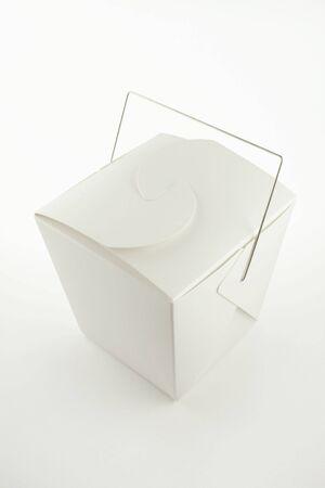 Chinese Take-out Lebensmittel Container auf weiß.  Standard-Bild - 450245