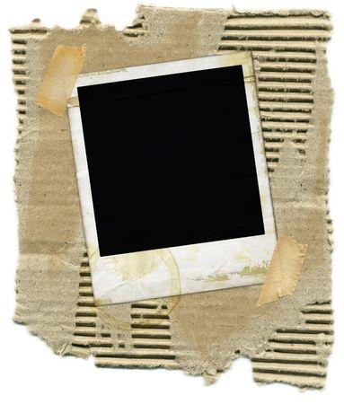 Ripped gegolfd karton en plakband. Stockfoto - 1105147