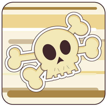 Cartoon illustration of a Skull and Crossbones.