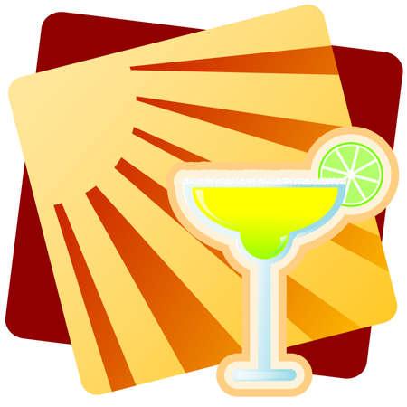 Illustration of a Margarita. Stok Fotoğraf