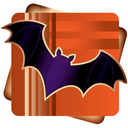 Stylized illustration of a halloween bat.