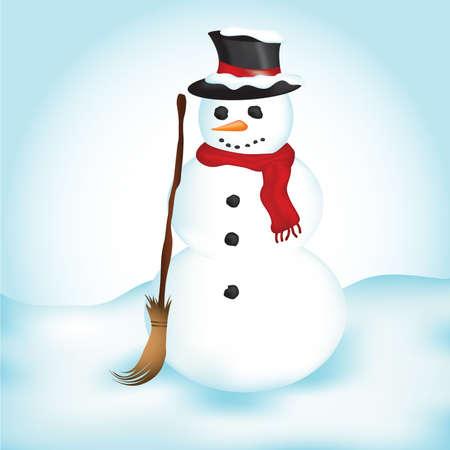 Illustration of a snowman. Фото со стока
