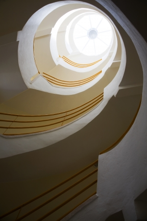 spiralling: Spiralling stairs and skylight