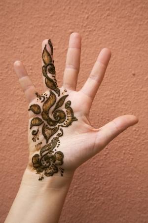 Henna on hand photo