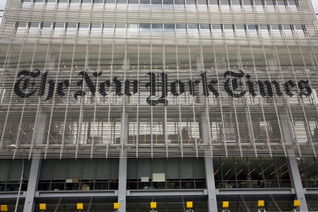 new york times: New York City, USA, May 24,  2011 - The New York Times offices near the Port Authority in Manhattan, New York.